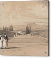 Edward Lear - The Gardens Of The Villa Albani Acrylic Print