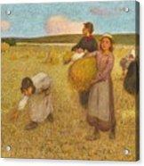 Edward Stott, A.r.a. 1859-1918 Harvesters Acrylic Print