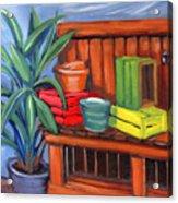 Edwards Nursery Potting Bench Acrylic Print