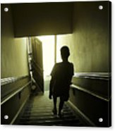 Eerie Stairwell Acrylic Print
