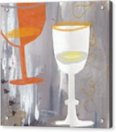 Efervescent Champagne Cups Acrylic Print
