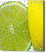Effervescent Lime And Lemon By Kaye Menner Acrylic Print