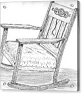 Effie's Chair Acrylic Print