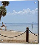 E G Simmons Park Beach Acrylic Print
