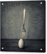 Egg And Fork Acrylic Print by Ian Barber