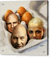 Eggheads Acrylic Print by Anthony Caruso