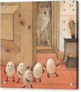 Eggs and Dog Acrylic Print