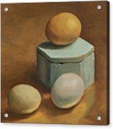 Eggs And Rustic Box Acrylic Print