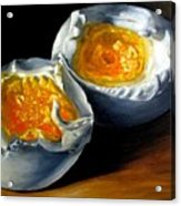 Eggs Contemporary Oil Painting On Canvas  Acrylic Print