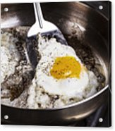 Eggs Cooked With Bacon Grease In Pan  Acrylic Print
