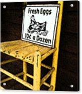 Eggs For Sale Acrylic Print
