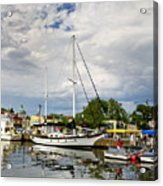 Ego Alley Annapolis Maryland Acrylic Print by Brendan Reals