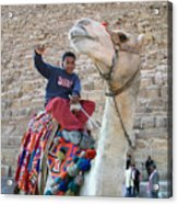 Egypt - Boy With A Camel Acrylic Print