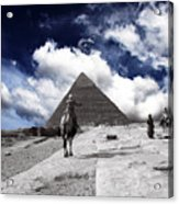 Egypt - Clouds Over Pyramid Acrylic Print