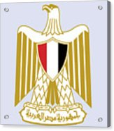 Egypt Coat Of Arms Acrylic Print