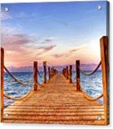 Egypt Red Sea Sunset Acrylic Print