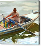 Egyptian Fisherman Acrylic Print