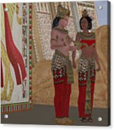 Egyptian King And Queen Acrylic Print