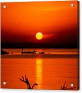 Egyptian Sunrise On Lake Nasser Acrylic Print