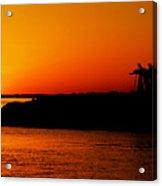 Egyptian Sunset On Lake Nasser Acrylic Print
