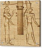 Egyptian Wall Carving Acrylic Print