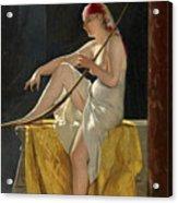 Egyptian Woman With Harp Acrylic Print