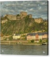Ehrenbreitstein Fortress On The Rhine Acrylic Print