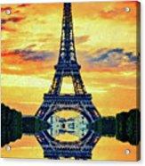 Eifel Tower In Paris Acrylic Print