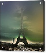 Eiffel Haze Acrylic Print by Menucha Citron