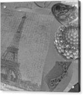 Eiffel Shades Of Grey Acrylic Print