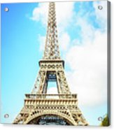 Eiffel Tower Portrait Acrylic Print