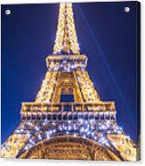 Eiffel Tower At Dusk. Acrylic Print