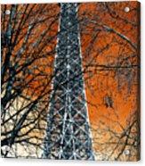 Eiffel Tower Behind The Trees Pop Art Acrylic Print