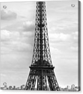 Eiffel Tower Black And White Acrylic Print