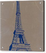 Eiffel Tower Blue Acrylic Print