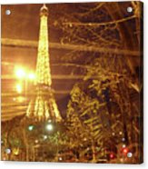 Eiffel Tower By Bus Tour Acrylic Print