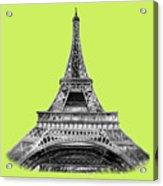 Eiffel Tower Design Acrylic Print