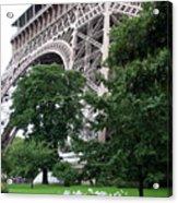 Eiffel Tower Garden Acrylic Print