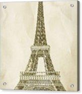 Eiffel Tower Illustration Acrylic Print by Paul Topp
