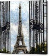 Eiffel Tower Acrylic Print by Melissa J Szymanski