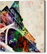 Eiffel Tower Acrylic Print by Michael Tompsett