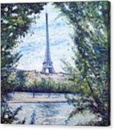 Eiffel Tower Paris France 2001   Acrylic Print