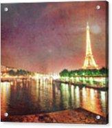 Eiffel Tower Reflections Acrylic Print