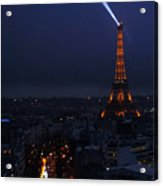 Eiffel Tower Spotlight Paris France Acrylic Print