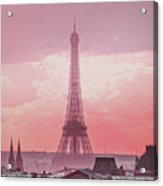 Eiffel Tower Sunset Art Acrylic Print