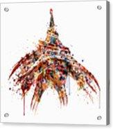 Eiffel Tower Watercolor Acrylic Print