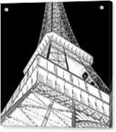 Eiffel Up Inverted Acrylic Print