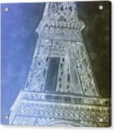 Eiffil Tower Inverted Acrylic Print