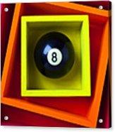 Eight Ball In Box Acrylic Print by Garry Gay