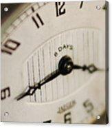 Eight Days A Week Clock Acrylic Print